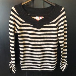 OP gray and black striped sweater Size Lg